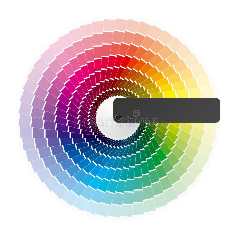 колесо цвета иллюстрация вектора