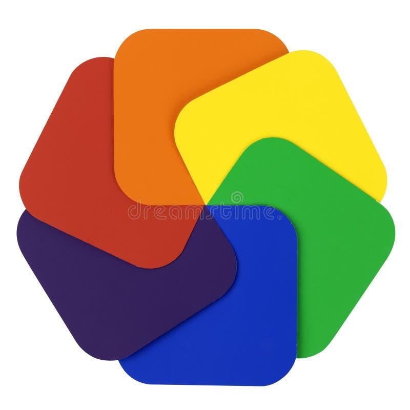 колесо цвета стоковое изображение