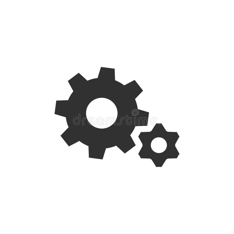 Колесо шестерни, значок cogweel большой и небольшой r бесплатная иллюстрация