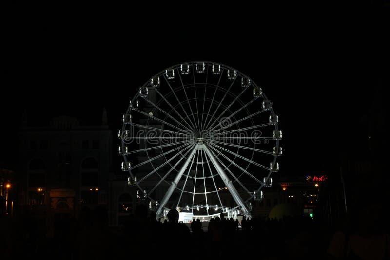 Колесо Ferris ночи стоковые изображения rf