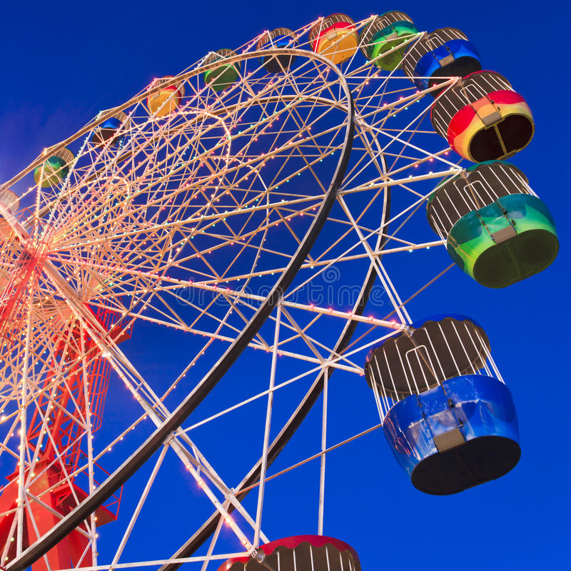 колесо Luna Park урожая стоковое фото