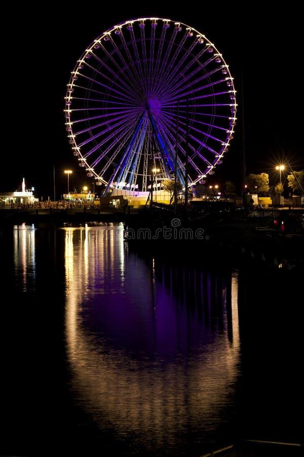 колесо rimini ferris самое большое стоковое фото