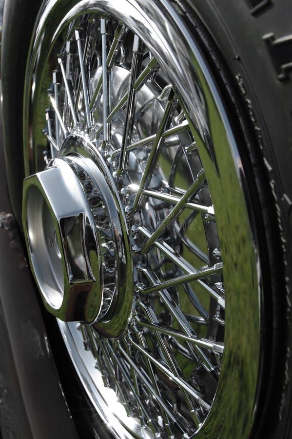 колесо spoked кромом стоковое фото rf