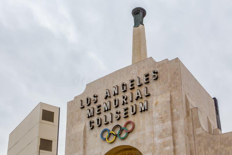 Колизей мемориала Лос-Анджелеса стоковые фотографии rf