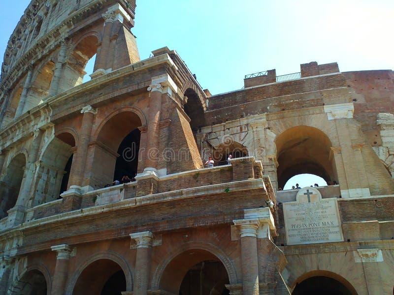 Колизей rome Старый архитектурноакустический ориентир ориентир стоковое фото