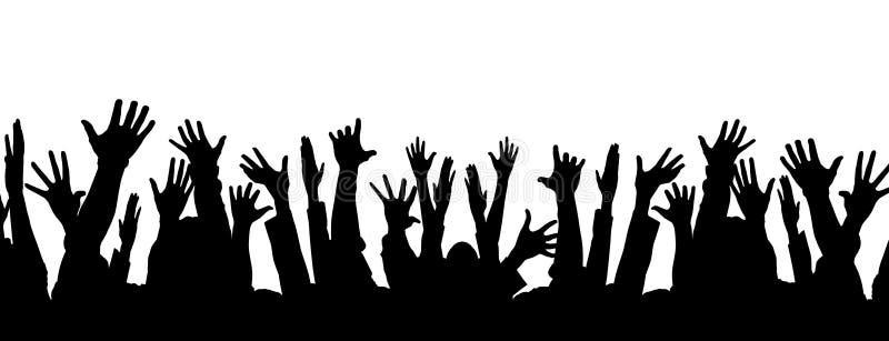 количество голосов, поданных за партию потехи толпы иллюстрация штока
