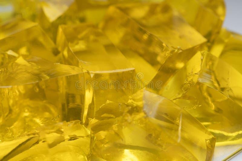 Коллаген еды абстрактного десерта студня золотого сладостного сочный варя варенье мармелада рецепта стоковые изображения