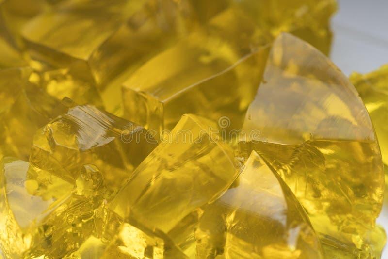 Коллаген еды золотого десерта студня частей сочный варя мармелад рецепта стоковые изображения