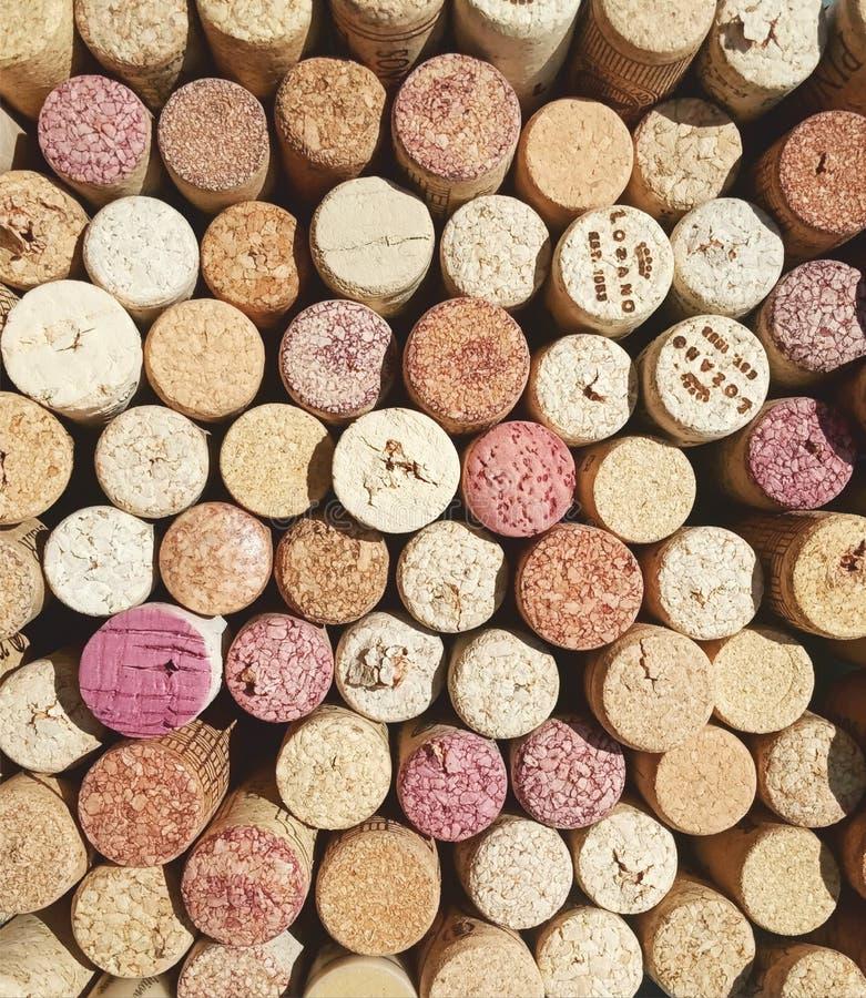 Коллаж вина пробочки стоковое фото