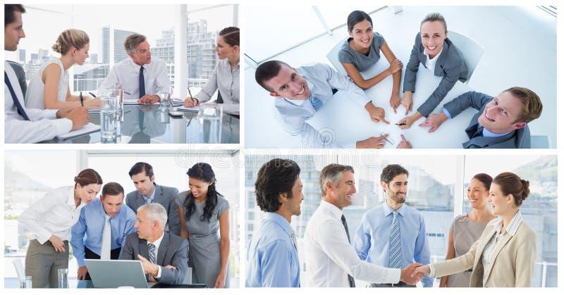 Коллаж деловой встречи сыгранности стоковая фотография rf