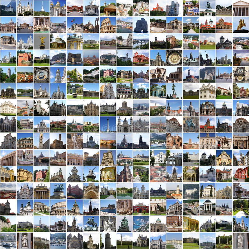 коллаж европа стоковые фото