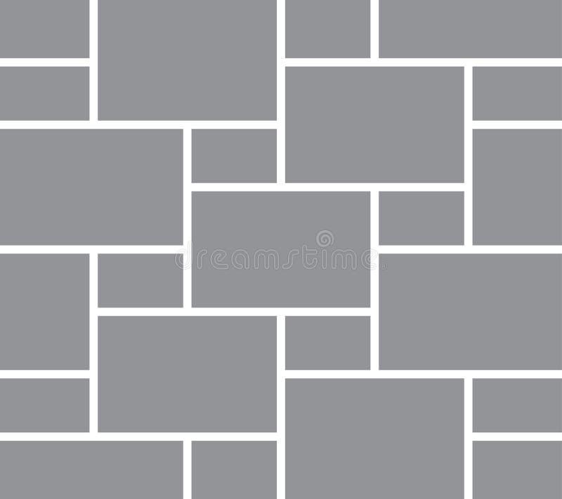 Коллаж изображения Рамки фото картинной галереи Ретро шаблон вектора рамки иллюстрация вектора