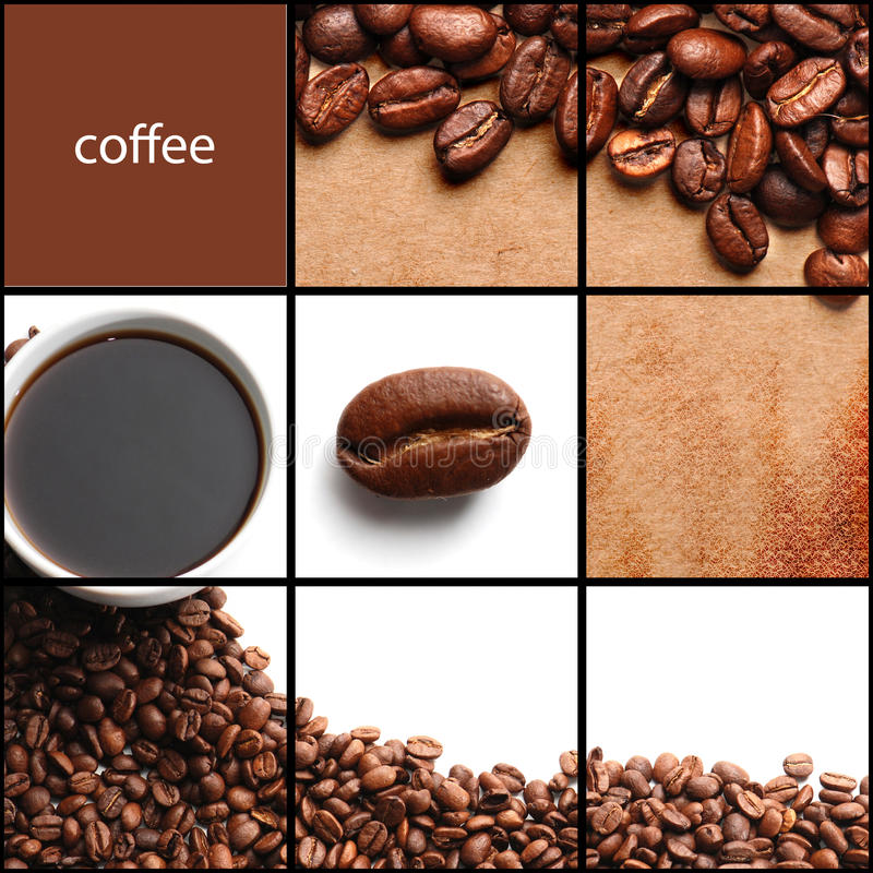 коллаж кофе стоковое изображение rf