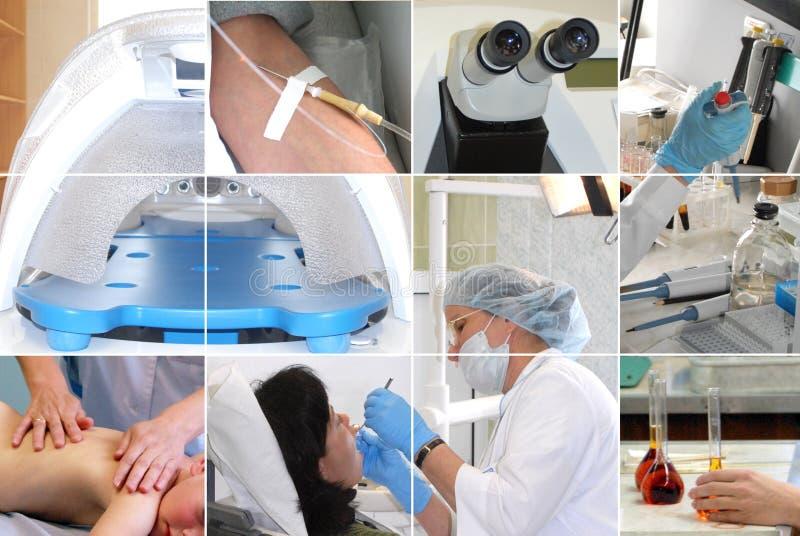 коллаж медицинский стоковое изображение rf