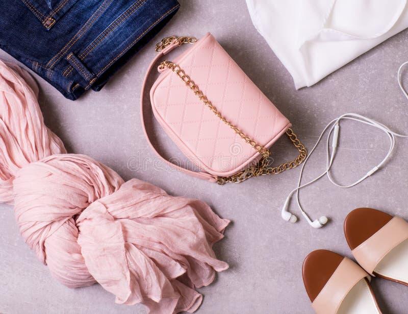 Коллаж одежды ` s женщин стоковая фотография rf