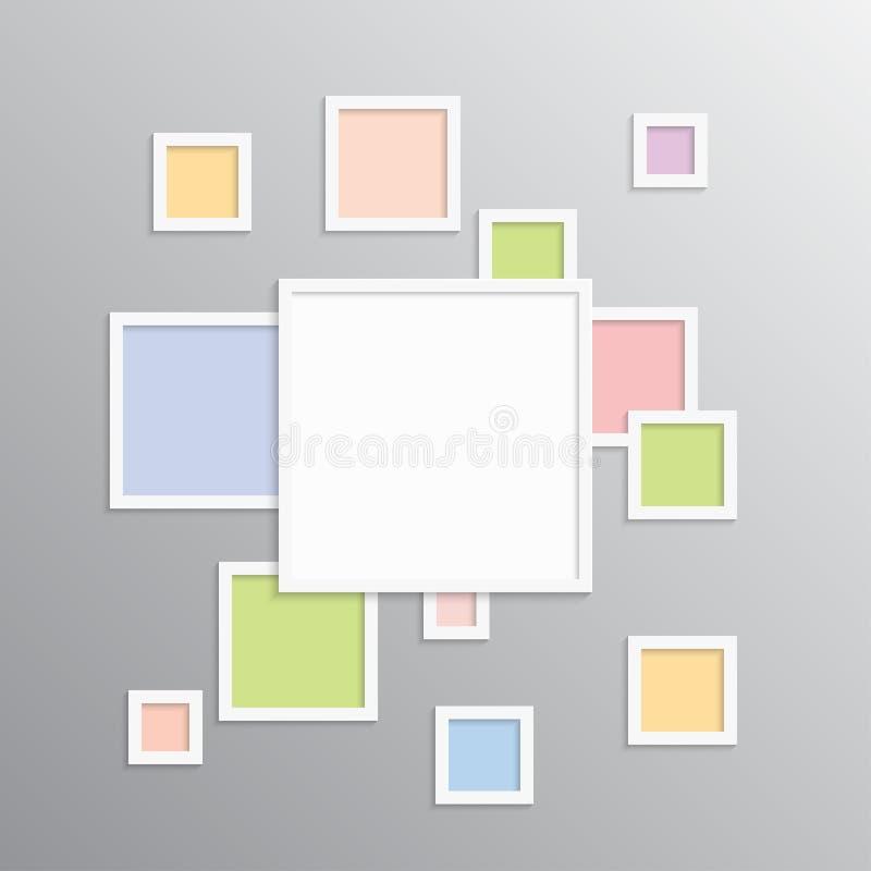 Коллаж один кадр для фото или иллюстрации иллюстрация вектора