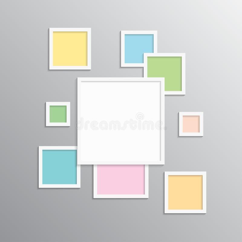 Коллаж одно кадр части или иллюстрация фото бесплатная иллюстрация