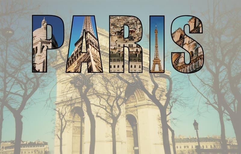 Коллаж Парижа изображений стоковые фотографии rf