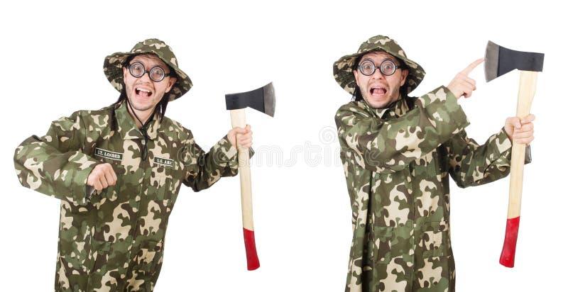 Коллаж смешных фото солдата стоковые фотографии rf