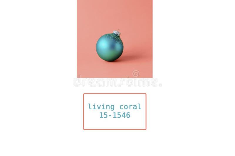 Коллаж фото в цвете в живя коралле 2019 стоковое фото rf