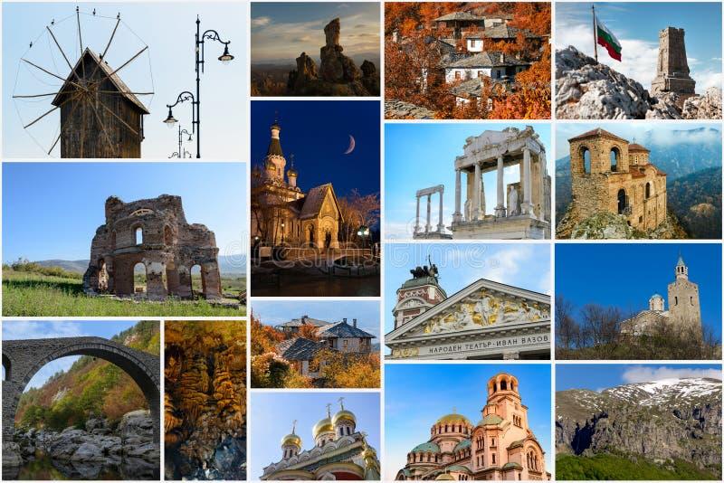 Коллаж фото перемещения от Болгарии стоковые изображения rf