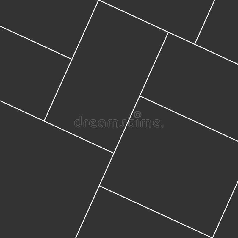 коллаж Коллаж шаблона обрамите фото иллюстрация штока