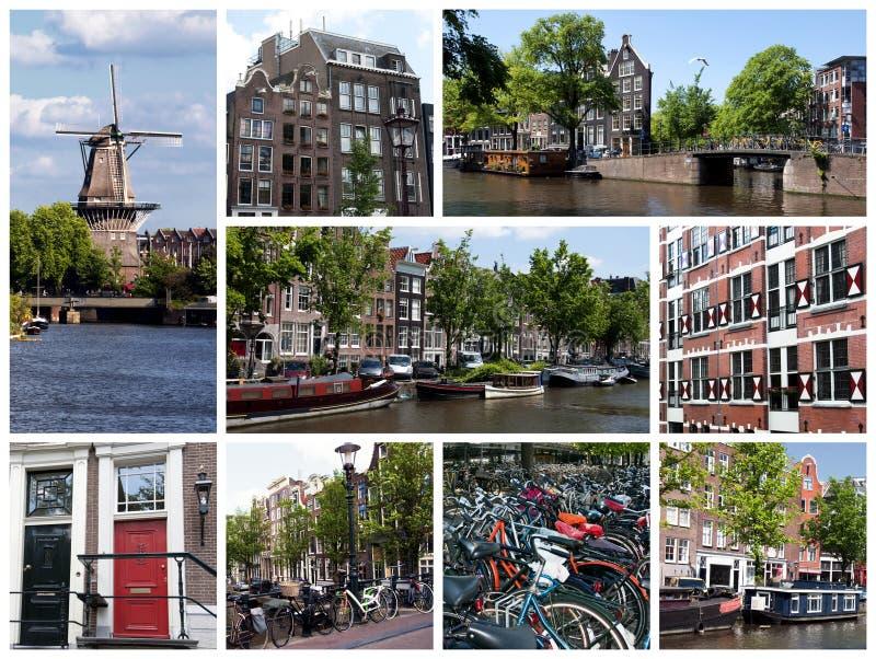 коллаж amsterdam стоковые фотографии rf