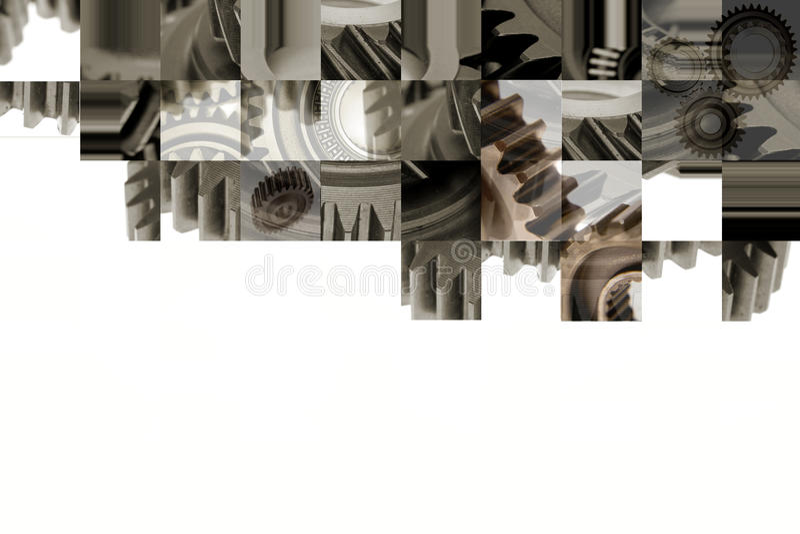 коллаж cogs стоковое фото rf