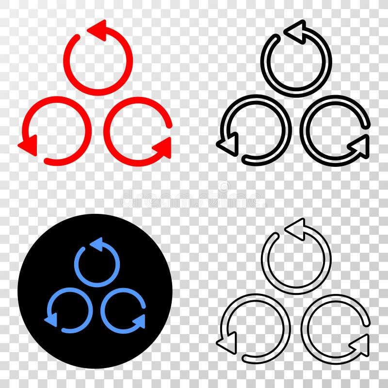 Коллаж Gradiented поставил точки различные вращение и печать Grunged иллюстрация штока