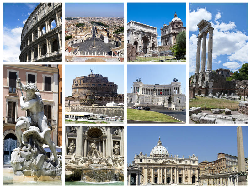 коллаж rome стоковое изображение rf