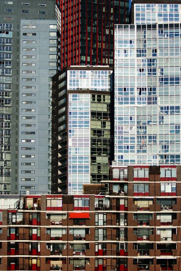 коллаж rotterdam зданий стоковые изображения