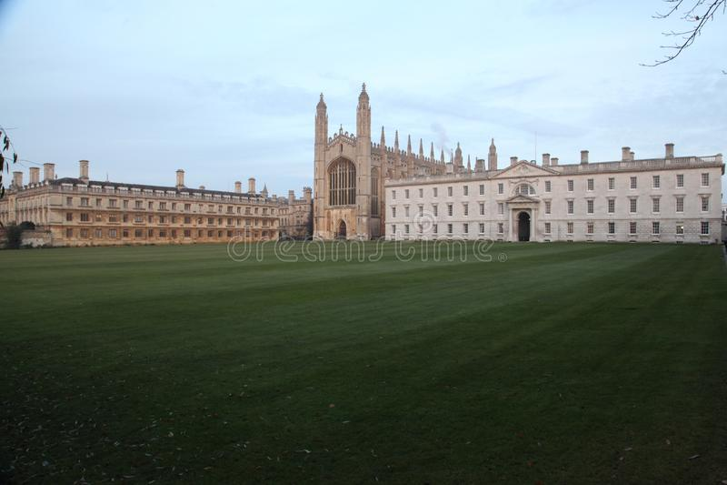 Коллежа Кембриджа Великобритании короля стоковая фотография rf