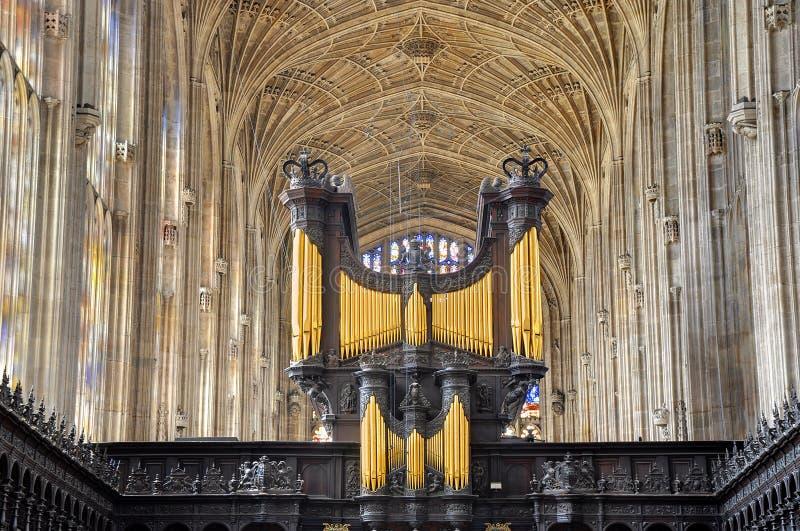 Коллежа Молельни короля, Кембриджа стоковое изображение rf
