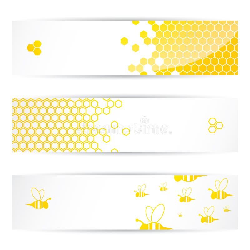 Коллекторы меда и пчел иллюстрация вектора