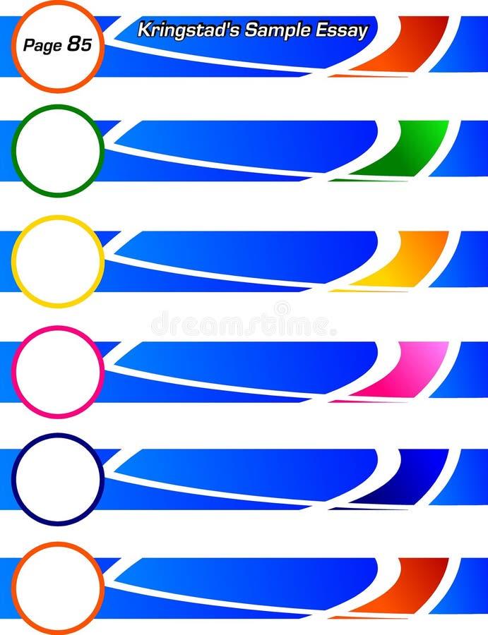 коллекторы сини знамен стоковые фотографии rf