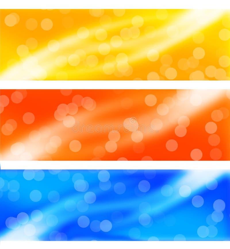 Коллектор/знамя сети иллюстрация вектора