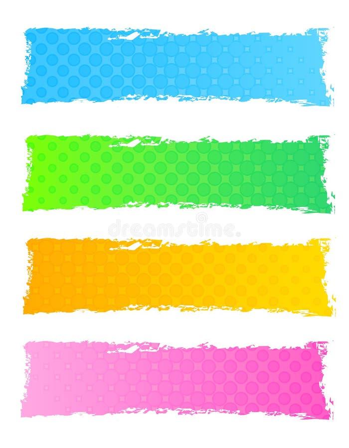 Коллектор/знамя сети Grunge иллюстрация вектора