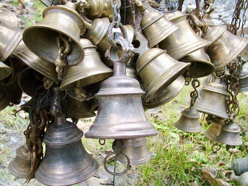 Колоколы в Непале стоковое фото