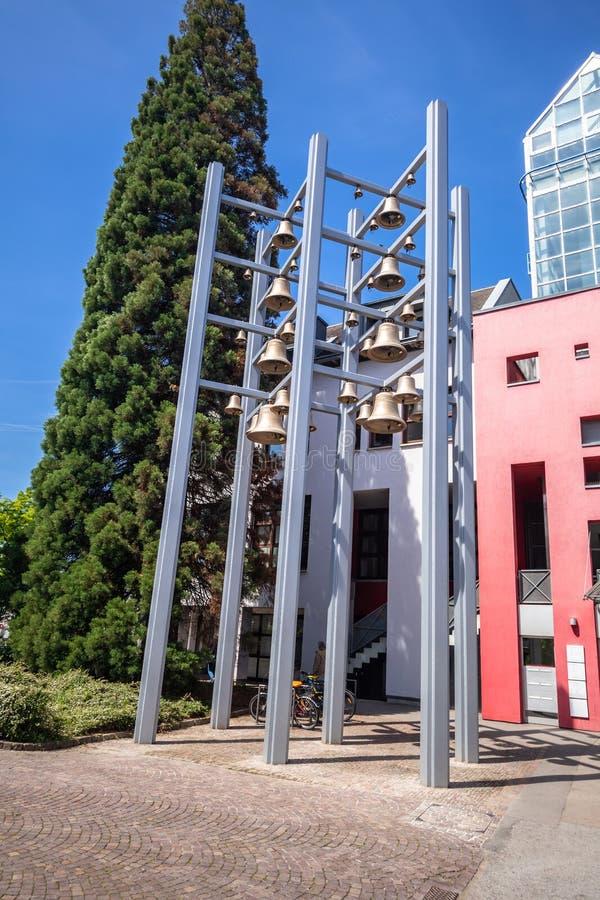 колоколы в Sindelfingen Германии стоковое фото rf