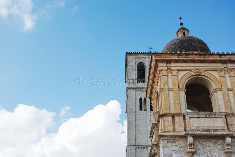 Колокольни на базилике Св.а Франциск Св. Франциск Assisi, Италии стоковые фото
