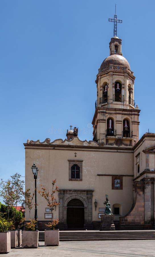 Колокольня в Ла Santa Cruz Templo y Convento de стоковая фотография