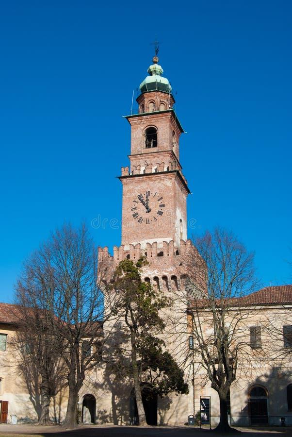 Колокольня крепости Vigevano стоковое изображение rf