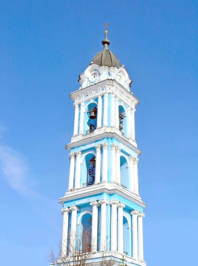 Колокольня собора явления божества, область России, Москвы, Noginsk стоковое изображение