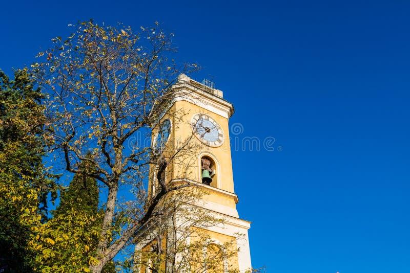 Колокольня церков нашей дамы предположения Eze стоковая фотография
