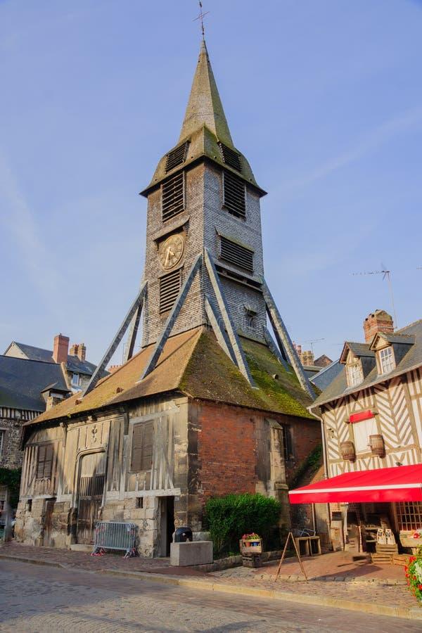 Колокольня церков Святого Катрин, Honfleur стоковая фотография