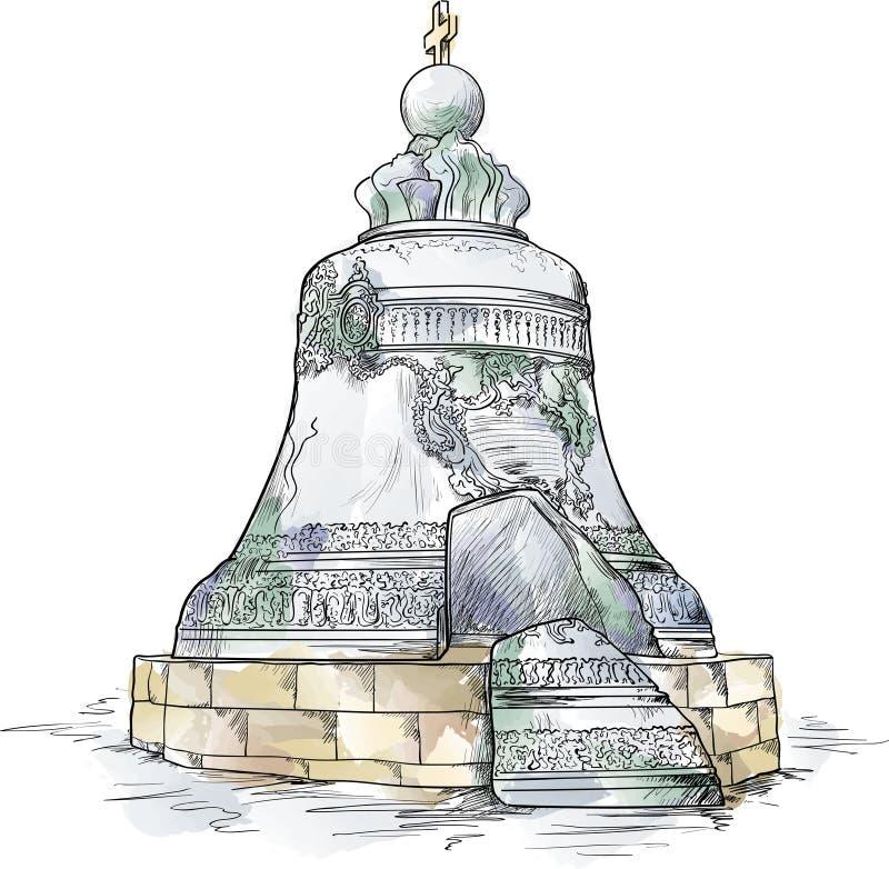 колокол большой kremlin moscow бесплатная иллюстрация