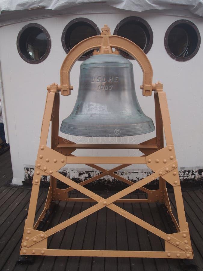 Колокол на корабле стоковое изображение rf