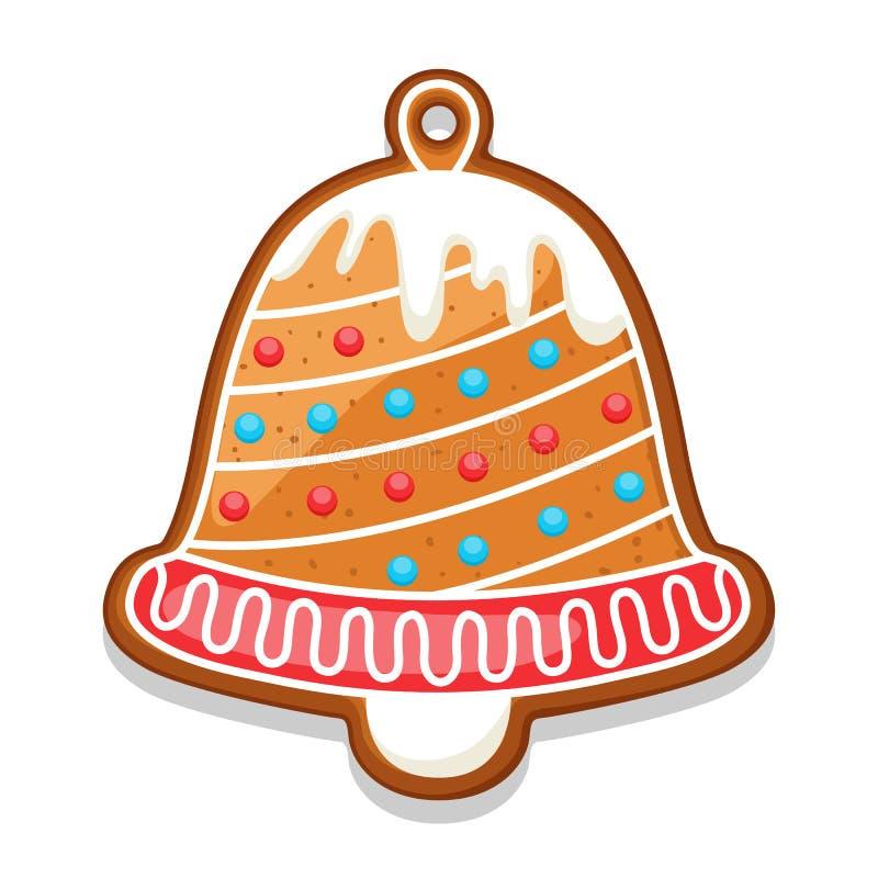 Колокол печений пряника Иллюстрация с Рождеством Христовым помадок бесплатная иллюстрация