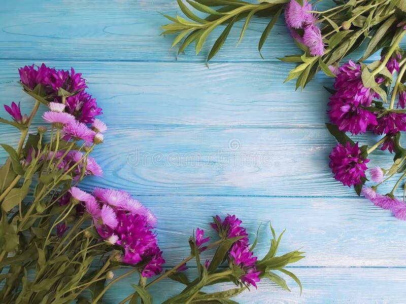 Колокол хризантемы красивый на предпосылке осени деревянной рамки бесплатная иллюстрация