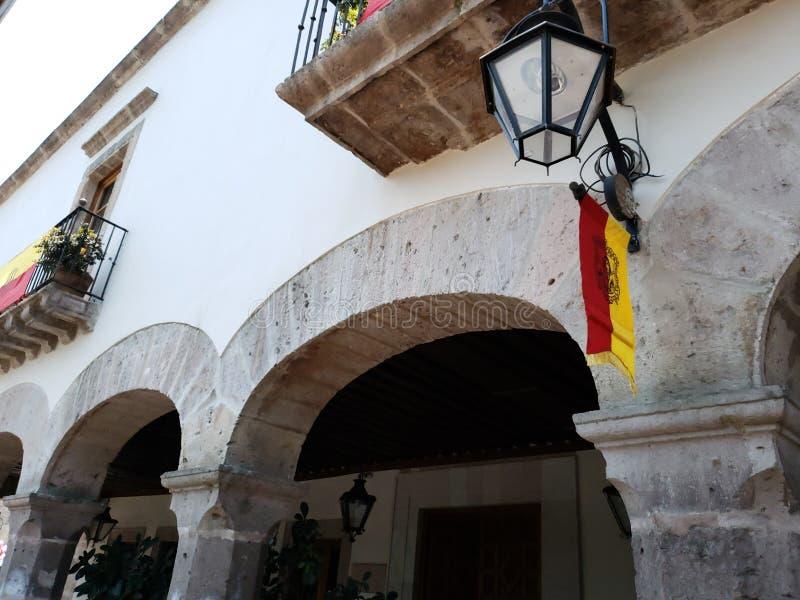 колониальная архитектура стиля в городе Morelia, Мексики стоковые изображения
